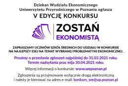 Konkurs Zostań Ekonomistą 2020 (www.wepoznan.pl)